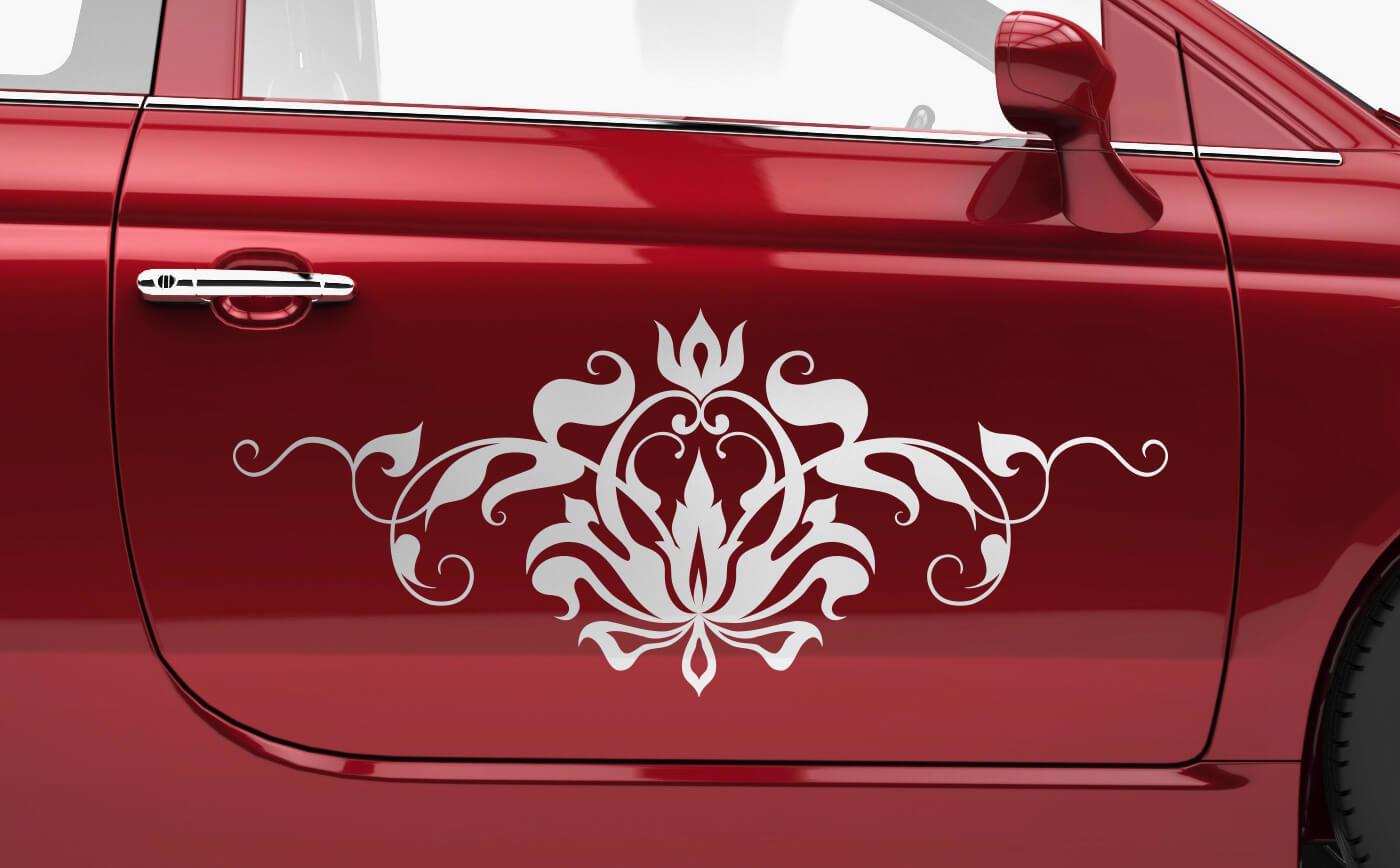 Autoaufkleber mit Blumen & Ornamenten