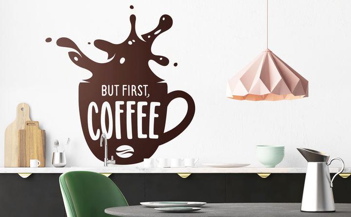 Wandtattoos zu Kaffee & Tee - für den Kick an Motivation und Genuss