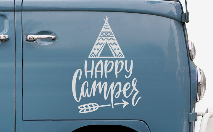 Autoaufkleber für Caravan & Camping