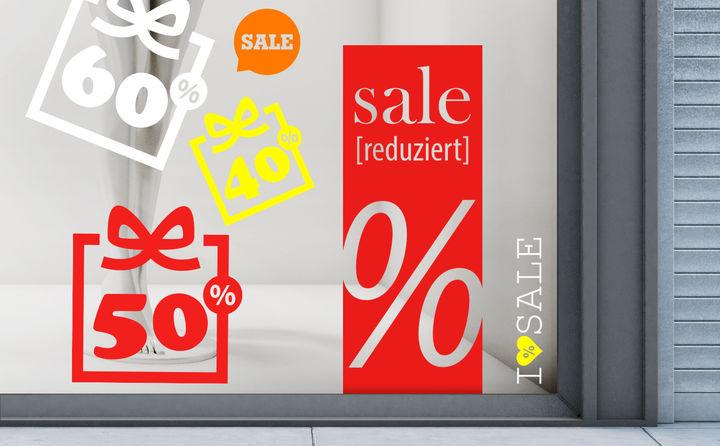 Sale & Aktionsaufkleber