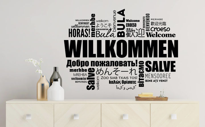 Wandtattoos für den Flur - Gestalte Deine Wände mit schönen Sprüchen & Motiven und heiße Freunde & Familie aufs herzlichste Willkommen.
