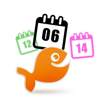 Geburtsdatum oder Hochzeitsdatum als Aufkleber