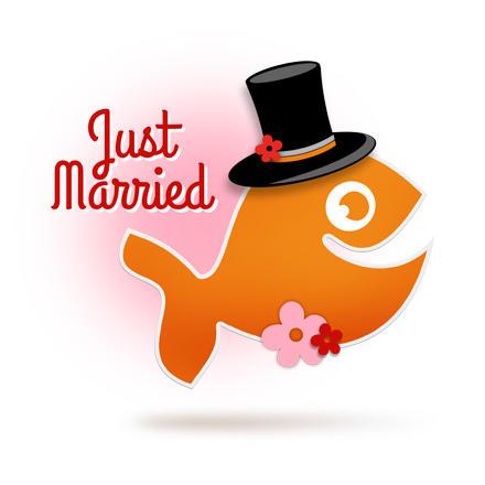 Just Married! Persönliche Hochzeits-Aufkleber für den schönsten Tag