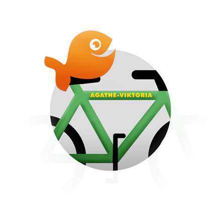 Namensaufkleber fürs Fahrrad