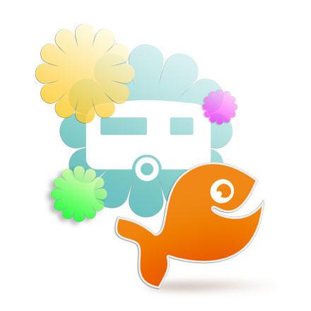 Wohnwagen günstig beschriften - mit Grafiken, Sprüchen und Fotos!