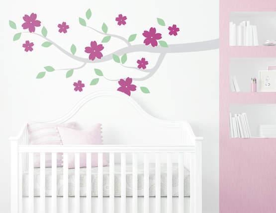 """Wandtattoo """"Blütenharmonie"""" bringt Natur ins Zimmer"""