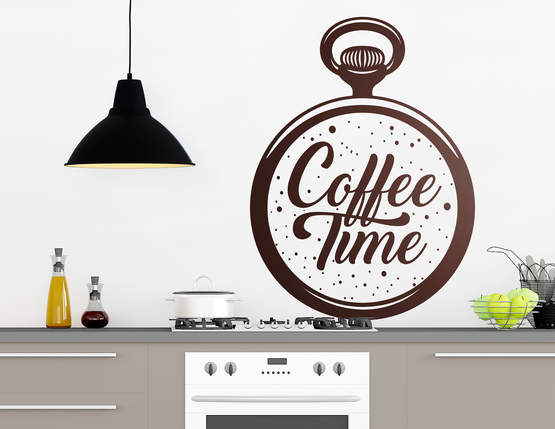 """Wandtattoo """"Coffee Time"""" passt 24h am Tag"""