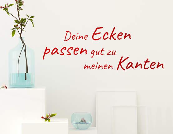 """Wandtattoo """"Ecken und Kanten"""" für liebende Paare"""