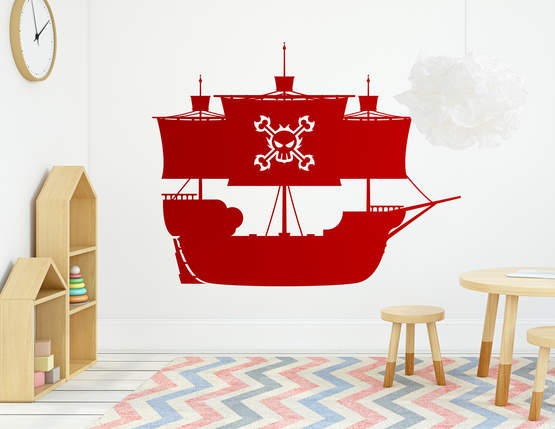 """Wandtattoo """"Piratenschiff Red Force"""" für echte Krieger"""