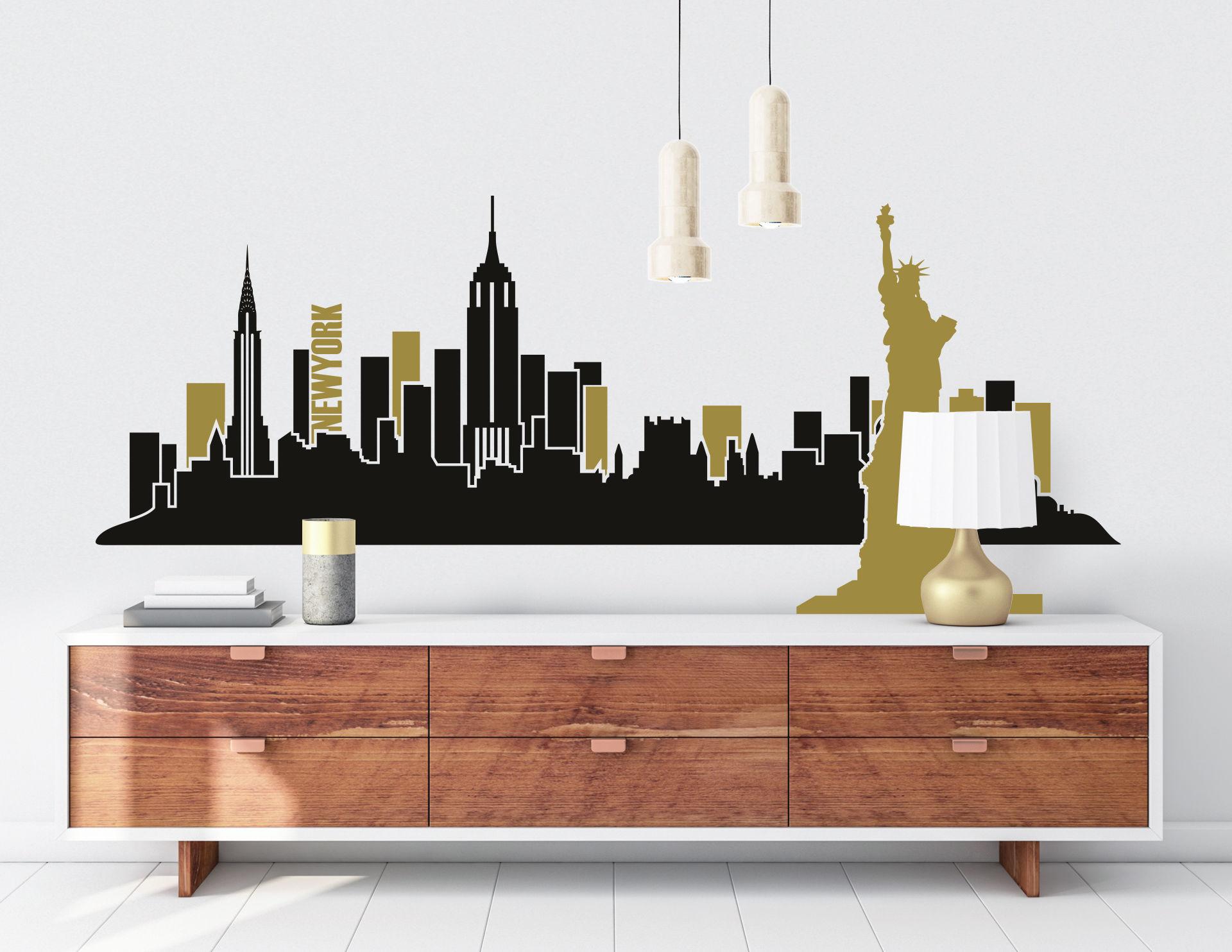 Wunderbar Wandtattoo New York Beste Wahl Skyline