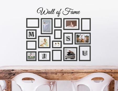 Fantastisch Wandtattoo Wall Of Fame   Mit 17 Bilderrahmen Für Fotos