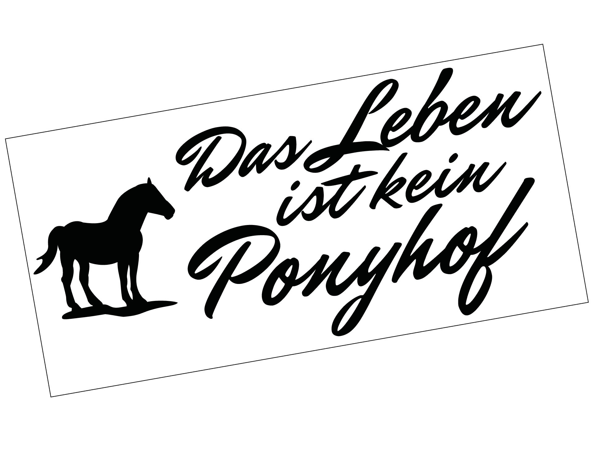 Autoaufkleber Ponyhof