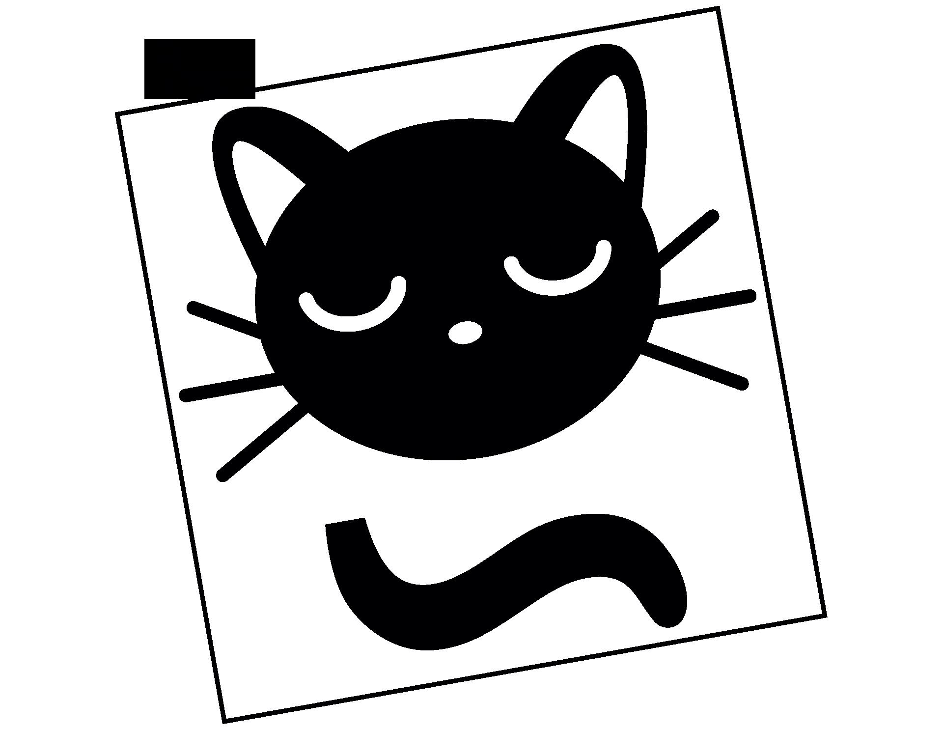 Wandtattoo Schmusekatze für Lichtschalter und Steckdose
