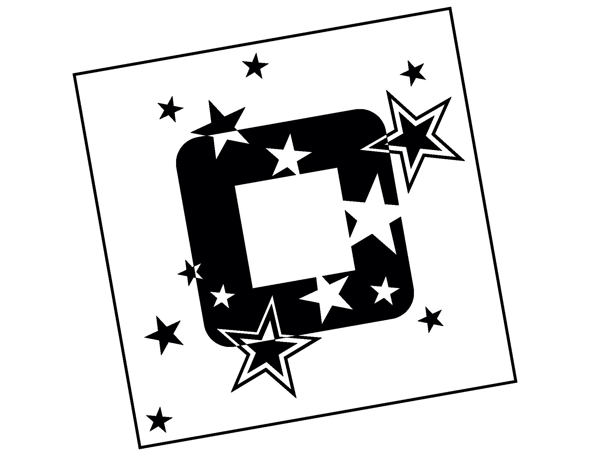 Wandtattoo Sternenrahmen für Steckdosen und Lichtschalter