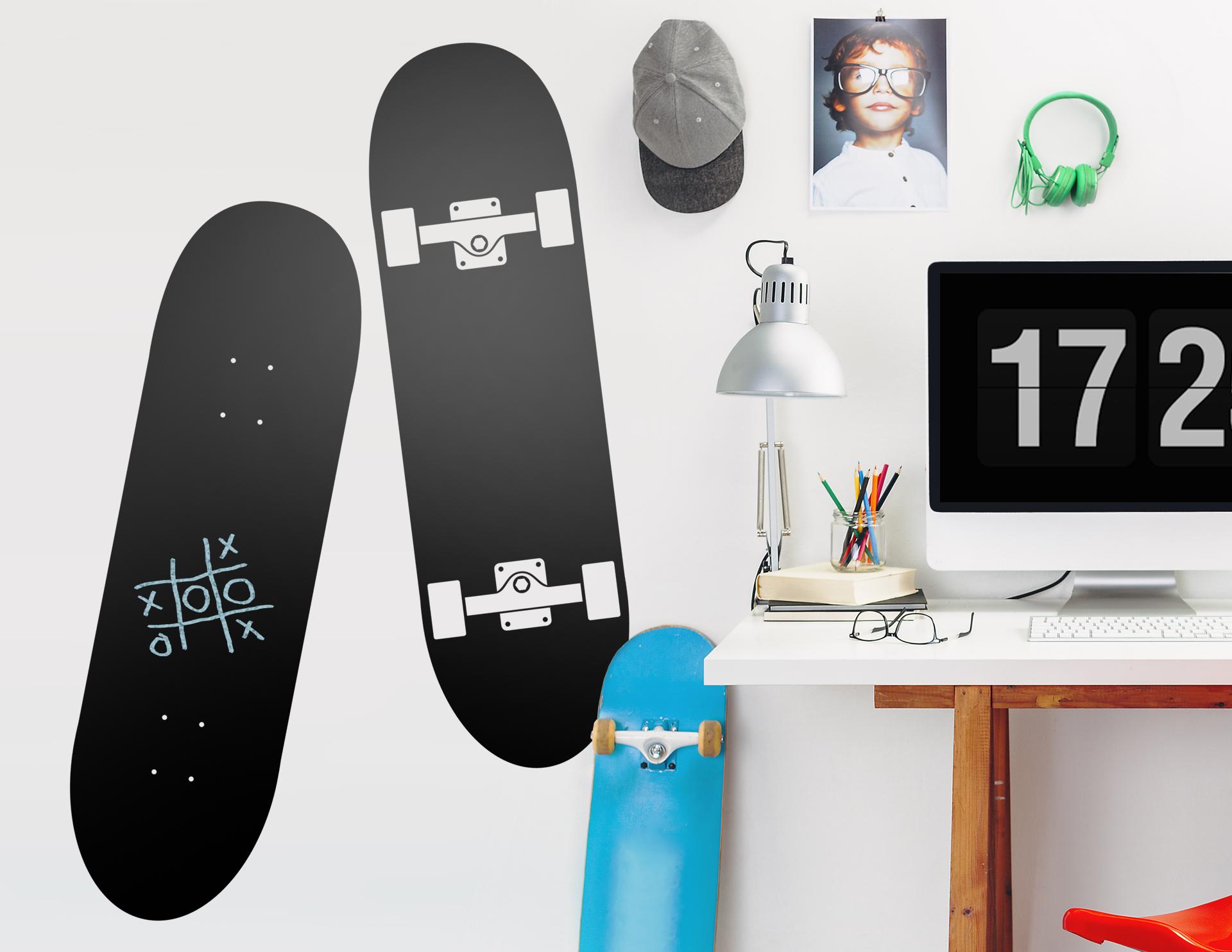 tafelfolie skateboard. Black Bedroom Furniture Sets. Home Design Ideas